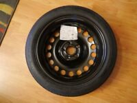Vauxhall Astra J spacesaver spare wheel with tools part no. 13259230