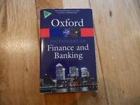 Oxford Finance and banking dictionary (99% new)