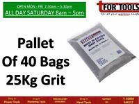 Pallet Of 40 Sealey B/25KG Shot Blasting Grit 25kg Bag