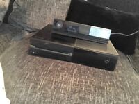 Xbox one 500gb black and kinect