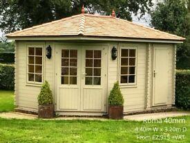 Garden Summerhouse with side storage