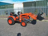 KIOTI CK 22,LOADER AND MUCK FORK,600 GENUINE 600 HOURS NO VAT