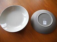 John Lewis Puritan Pasta Bowl Mocha Stoneware Large Flat RRP £9