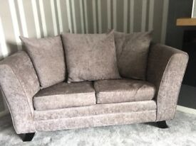Two silver grey sofas
