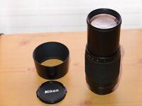 Nikon 70-300mm F4-5.5G with lens hood (manual lens) - AF fault