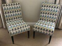 Pair of Funky Vintage Retro Bedroom Chairs