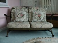Ercol suite - settee, 4 matching chairs and stool