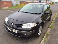 Renault Megane 2006 facelift, 1.4L petrol, black, 100k miles, MOTed 28/10/2016, Alloys,not 307 astra