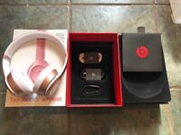 BEATS SOLO 3 APPLE ROSE GOLD WIRELESS USED 3 TIMES BOXED