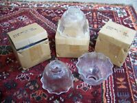 Lightshades, new, boxed, ribbed glass