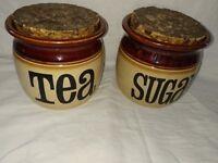 1970's Retro Tea and Coffee Jars