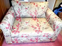 Excellent condition John Lewis oversized armchair / snuggler in beige and mandarin red. FAST SALE!!!