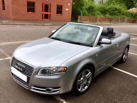 Audi A4 2.0 TFSI 'S Line' 2007 Top Spec Cabriolet. One Lady Owner*. FSH.LOW MILEAGE.Mint Condition