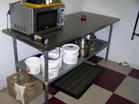 Stainless Tables,Shelf Unit On Wheels, MUST GO Call 727-5344