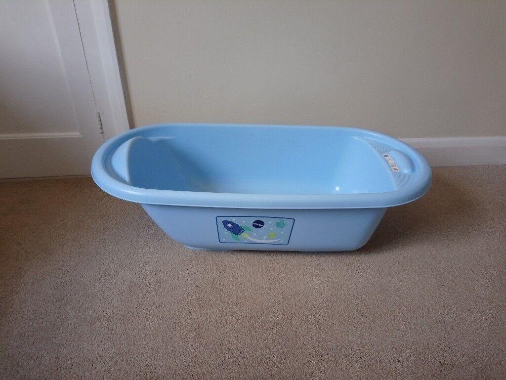 Blue baby bath, rarely used