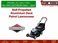 BRIGGS & STRATTON Self Propelled 19in Aluminium Deck Petrol Lawnmower 5hp with Mulch
