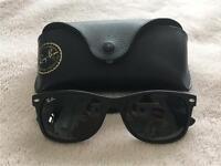 Ray Ban Wayfarer rb2132 matte black sunglasses. Excellent condition, with receipt!