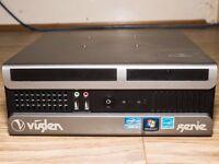 Viglen Genie Small/Mini Desktop PC - WIndows 7 Pro, 8x USB Ports, Intel i3 3.3GHz, 160GB HD, 4GB RAM