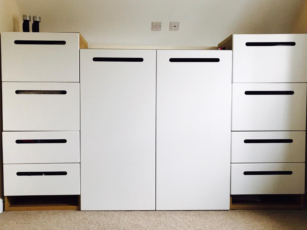 ikea besta marviken front cupboards wardrobe in haslington cheshire gumtree. Black Bedroom Furniture Sets. Home Design Ideas