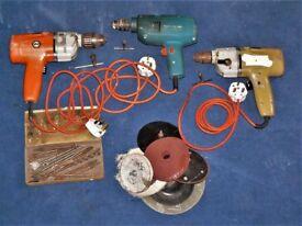 Three electric drills