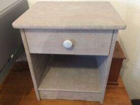 Unique, attractive upcycled 'shabby chic' bedside table