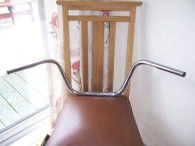 """handle bars, for Harley Davidson. 1"""" bars with dimples. in good condition. 10"""" ape hangers"""