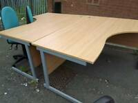 Curved desks good condition
