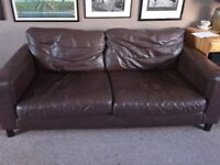 FREE *****Brown leather sofa's 2 and 3 seater ******FREE
