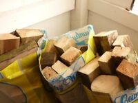 7 bags of logs and blocks.