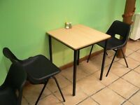 12 square cafe restaurant tables in exc condition very strong brown washable tops £15 each