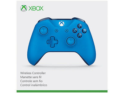 Genuine Microsoft Xbox One S Blue Wireless Bluetooth Controller WL3-00018 In Box