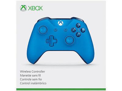 Genuine Microsoft Xbox One S Blue Wireless Bluetooth Controller Wl3 00018 In Box