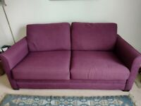 Purple sofa bed collection only