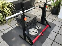 Squat rack (convert to dip set) - BARELY USED, as new