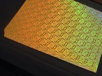 10 x A4 Gold Holographic Single Sided Craft Card, FREE Postage (UK), 10 - 100 Sheets Available
