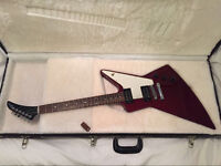 **Mint condition** Gibson explorer 76 re-issue guitar electric with hard case red