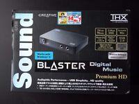 Sound Blaster Digital Music Premium HD external USB sound card with Phono (LP/record player) input