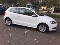 White 2015 Volkswagen Polo 1.0 Bluemotion SE (Petrol)