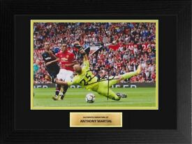 Anthony Martial Manchester United Framed 12x8 Signed Photo Display COA