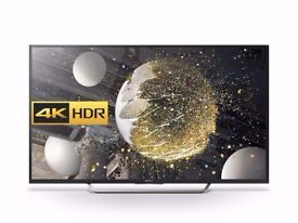 """Sony 65"""" 2017 top model 4K UHD HDR LED Android smart TV complete with box and remote New"""