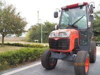 KUBOTA 2530 COMPACT TRACTOR,25hp,ONLY 500 HOURS,FULLY GLAZED CAB,