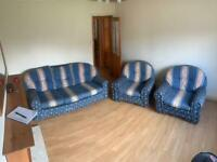 Sofa and 2 x Arm Chairs