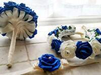 Customised foam rose flower bouquet arrangements for weddings and funerals