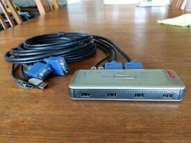Sitecom KV-011 2PC USB KVM switch.