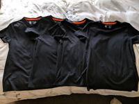 4 x Charles Wilson Small Black T-Shirts