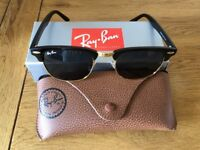 Ray-Ban Sunglasses Black & Gold, Unisex, As New