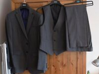 3 Piece Grey Suit Tailored Fit Marks & Spencer