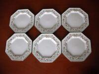 6 Eternal Beau tea plates