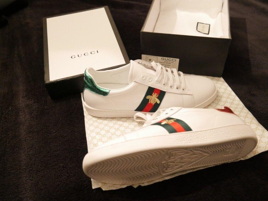 7e4f0e97aec47 Designer Mens Gucci White Trainers