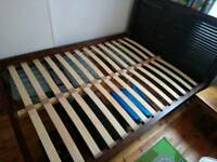 Double bed frame with mattress included - used but good condition